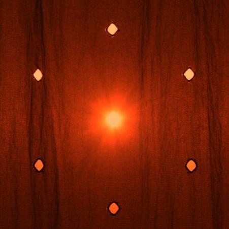 rotes Licht mittig