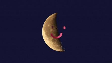Mond halb und halb