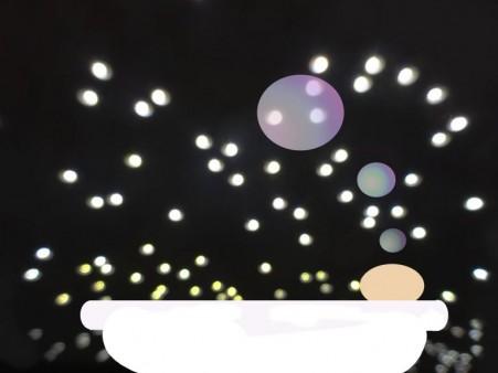 Lichtermeer mit Wanne